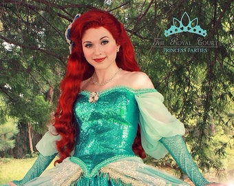 10909fa74e8c3 The Little Mermaid Ariel Adult Costume Wig in Broadway Musical Style - A  True Enchantment Original