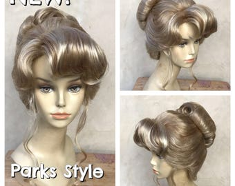 Cinderella Parks Style Blonde Up Do Adult Costume Wig - A True Enchantment Original