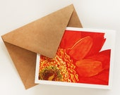Watercolor Orange Sun Greeting Card