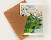 Watercolor Geranium Greeting Card