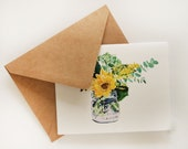 Sunflower Bouquet Blank Greeting Card