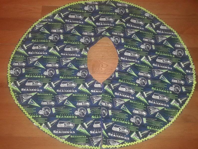 Seattle Seahawks Christmas Tree Skirts home decor Holidays gift Christmas gift 12th man football