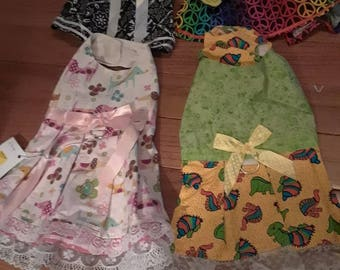 4 dresses  only 1 of each left 4 for 25 dollars made and ready to ship size x small
