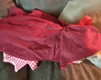 Little Red Riding Hood Costume Featured on Peoplepets.com Halloween costume cat costume pet costume dog costume costume contest winner  dog