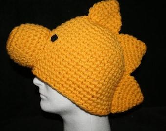 Handmade character hat little golden bird inspired by Woodstock - Toddler size - Very unique winter hat