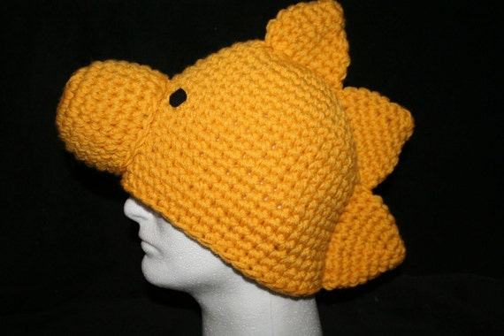 e0d092d6 Handmade character hat little golden bird inspired by Woodstock - Teen to  adult size - Very unique winter hat