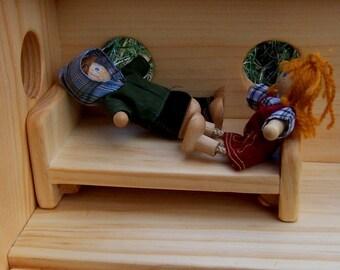 Puppenhaus Schlafzimmer Möbel Set