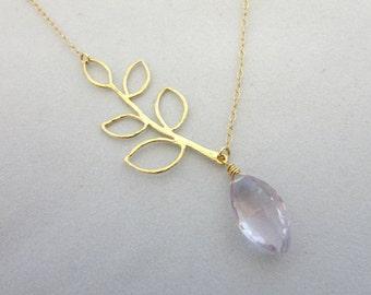 Amethyst Branch Necklace