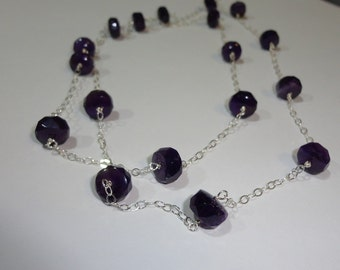 Long Amethyst Necklace