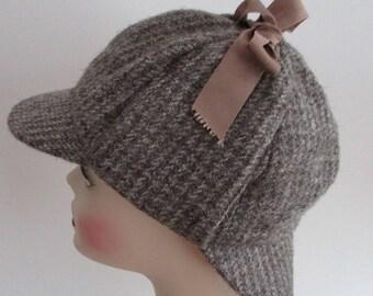5bb93df5f04 1960s DEERSTALKER Wool Tweed Hat