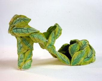 Going Green Ceramic Leaf Shoe