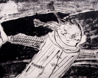 Don't Go Printmaking Etching