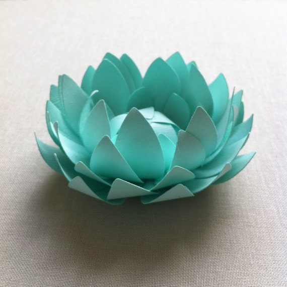 Items Similar To Mint/ Paper Lotus. Home Decor, Office