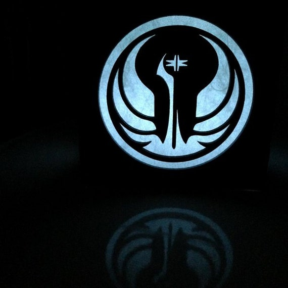 Star Wars Galactic Republic Symbol Light Box 45 Etsy