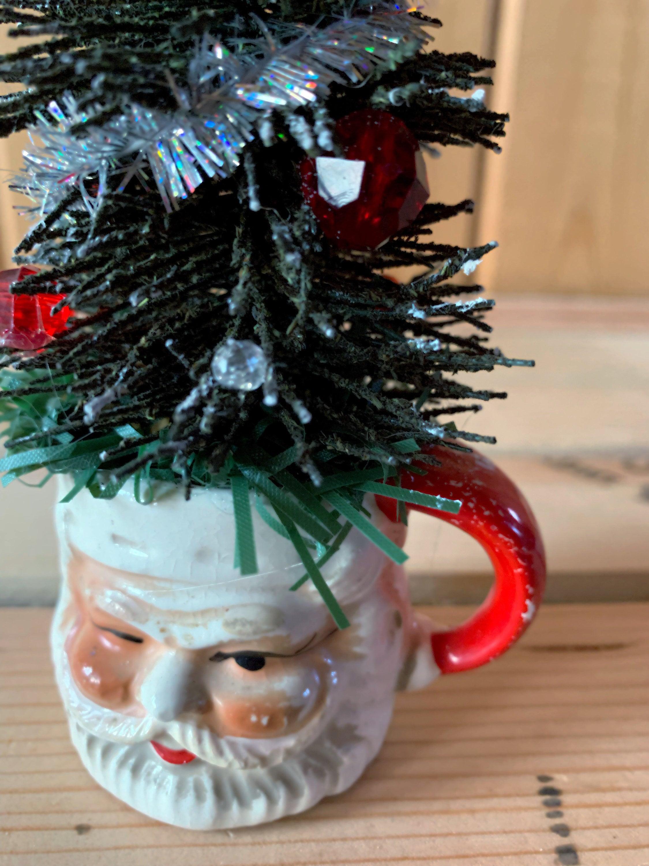 Free Shipping Vintage Santa Holiday Tree Decor
