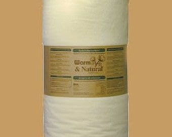 """1/2 yard of 90"""" wide Warm & and Natural Cotton Batting w Instructions"""