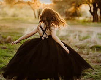 571d8ba68551 The Ophelia Dress  Black - Flower Girl Tutu Dress