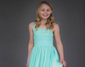 NEW!!! The Danielle Dress in Minty Aqua - Flower Girl Tutu Dress