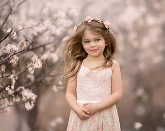 e90edd32a0b The Paige Dress in Ivory and Light Pink - Flower Girl Tutu Dress