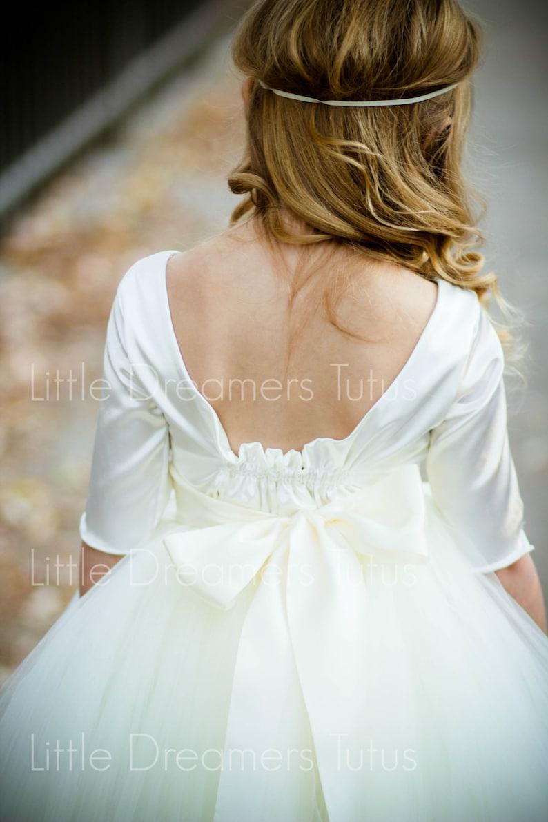 The Sophia Dress in Ivory Flower Girl Tutu Dress