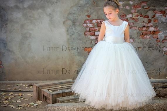 fb3a37b0b27 The Juliet Dress in Ivory - Flower Girl Tutu Dress