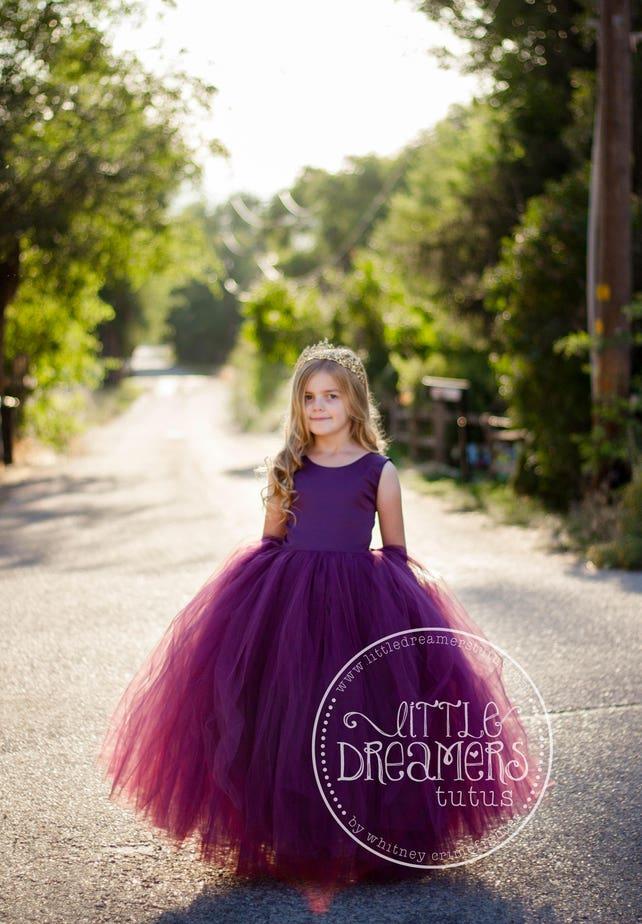 4ea9c9847d9 NEW! The Juliet Dress in Eggplant - Flower Girl Dress