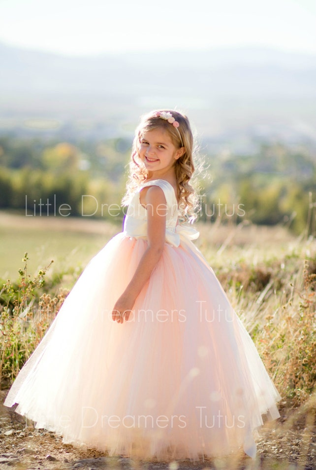 As Seen on Bridal Musings - The Juliet Dress in Ivory Blush - Flower Girl Tutu Dress