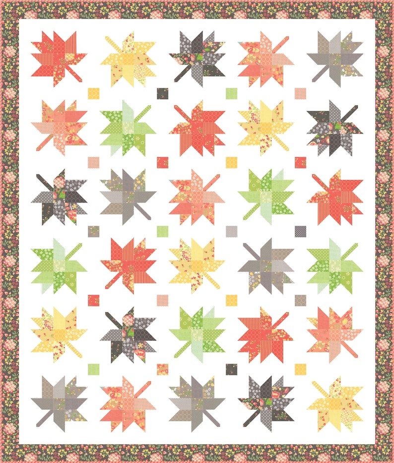 Maple Charm PDF Quilt Pattern 132 image 0