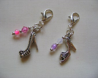 Diva Heels Progress Markers/Stitch Markers for Knitting or Crochet set of 2