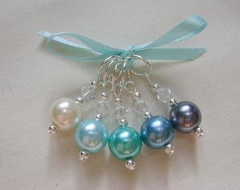 Ocean Wave Stitch Markers for Knitting or Crochet