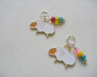Sheep Progress Markers/Stitch Markers for Knitting or Crochet set of 2