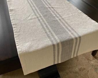 long table runner custom table cloth linen runner Linen table runner stonewashed linen table decor tabletop decor dining table runner