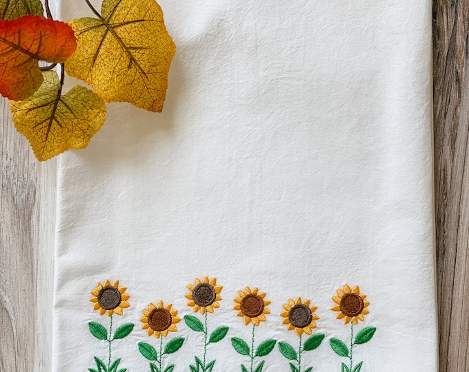 Embroidered Fall Towels