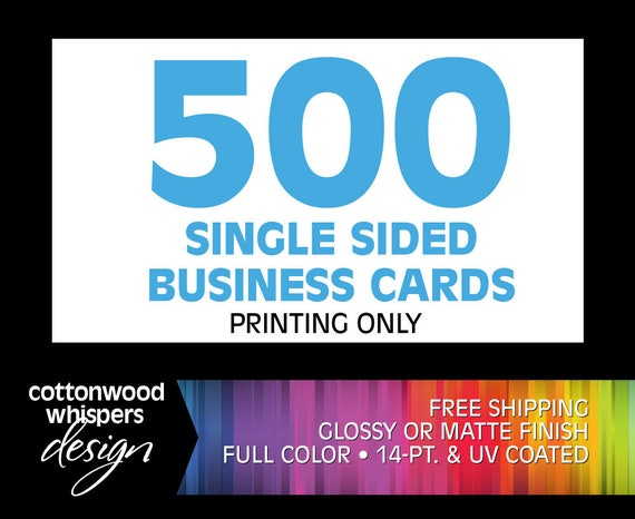 Printed business cards glossymatte small business custom reheart Choice Image