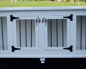 Custom high end wood dog crate