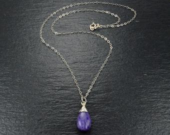 Designer Charoite Pendant,Gemstone Pendant,Purple Jewelry,Birthday-Anniversary-Festival Gift Pendant,Charoite Jewelry,Necklace-P-3035