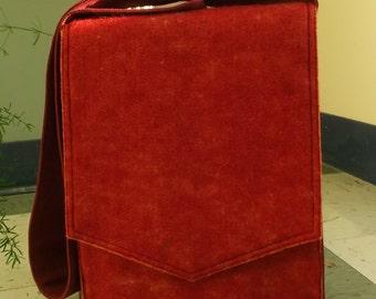 Orange Wool Felt Messenger Bag
