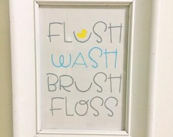 Bathroom Rules art print- printable download - 5x7 & 8x10 -