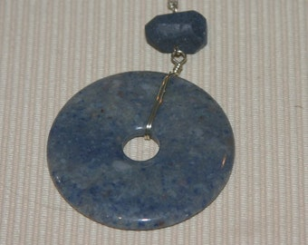 Blue Aventurine Donut Necklace SALE