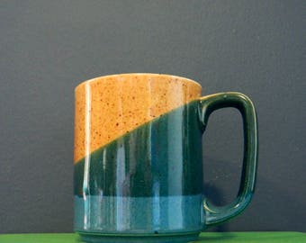 Vintage Stoneware Mug / Speckled Drip Glaze Coffee Mug / Retro Coffee Cup Vintage Kitchen