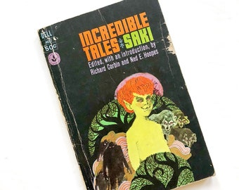 Vintage Short Stories Paperback / Incredible Tales / 1960s Horror Sci-Fi Paperback / Retro Book Collector