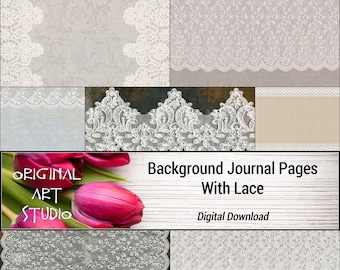 Background Journal Pages With Lace