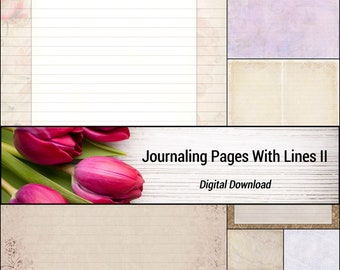 Journaling Pages With Lines II
