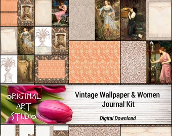 Vintage Wallpaper & Women Journal Kit