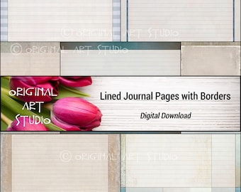 Lined Journal Pages With Borders