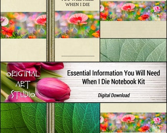 Essential Information You Will Need When I Die Notebook Kit