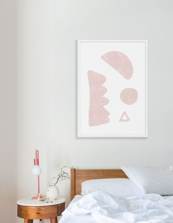 RÊVERIE #3 //  abstract poster, 8x10, 10x10, 18x24, minimalist art print, Pastel colors, abstract, art