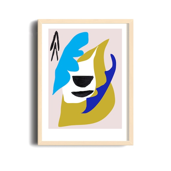 NIVÉAL // Mid Century poster, 12x18, abstract art, scandinavian,