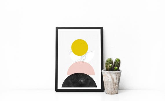 small print  mid century géométrie // 5x7, Scandinavian Design, minimalist art print, abstract art