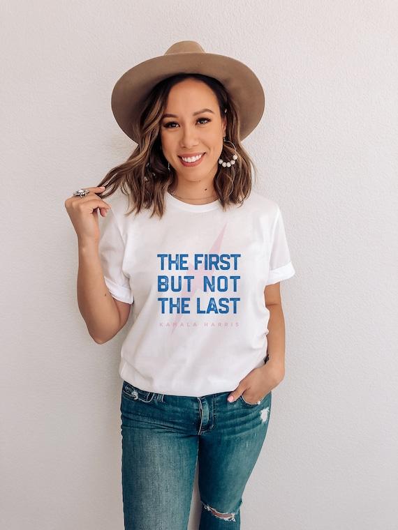 KAMALA HARRIS // Short-Sleeve Unisex T-Shirt, white, abstract art, geometrie art, pastel colors, drawing, boho, vintage